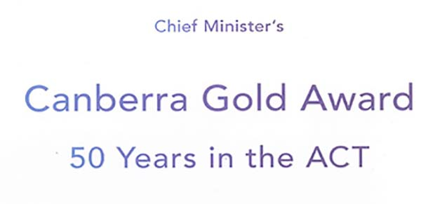 Canberra Gold Award